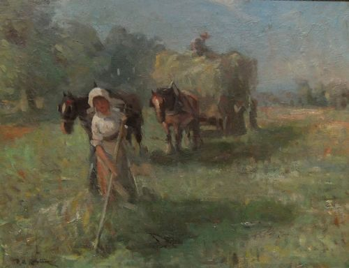 d t robertson haytime oil painting on canvas