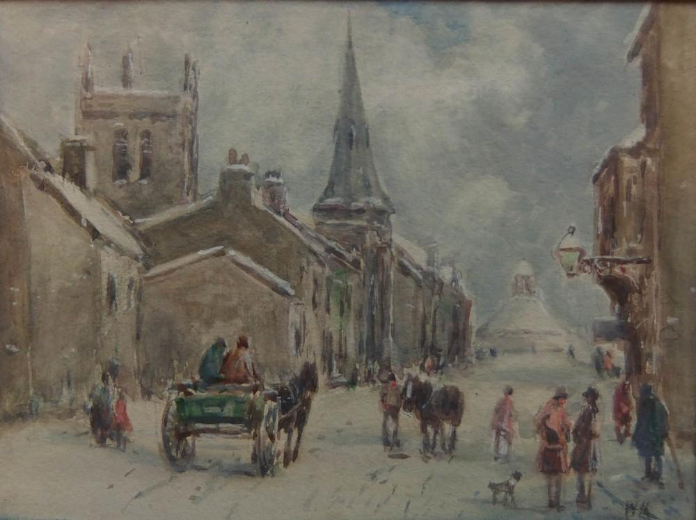 william manners winter barnard castle watercolour
