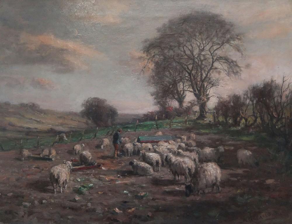 william greaves tending the flock oil painting