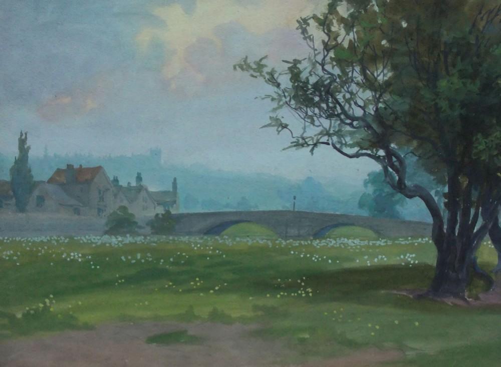 john dobby walker apperley bridge yorkshire watercolour