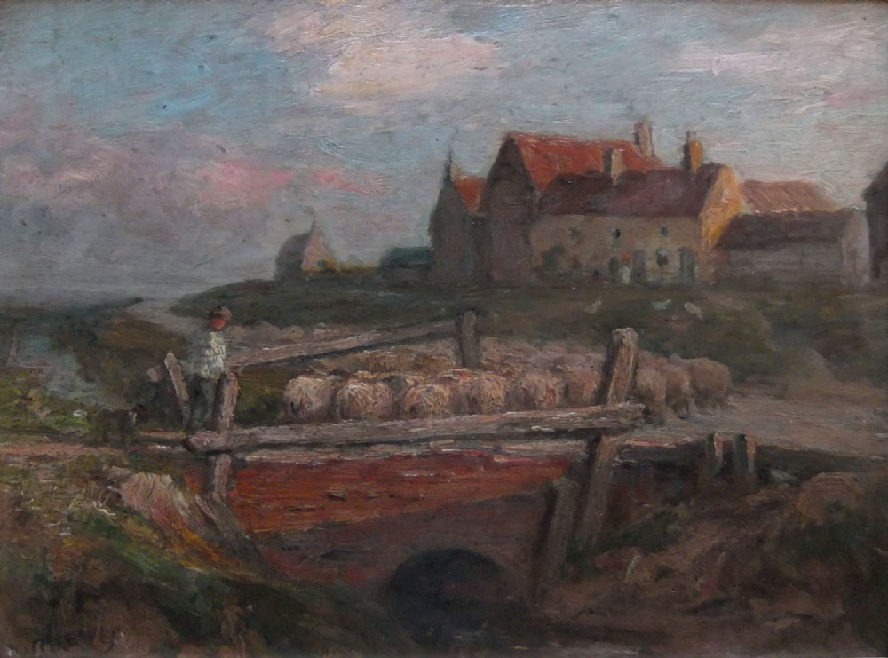 william greaves cley next the sea oil painting