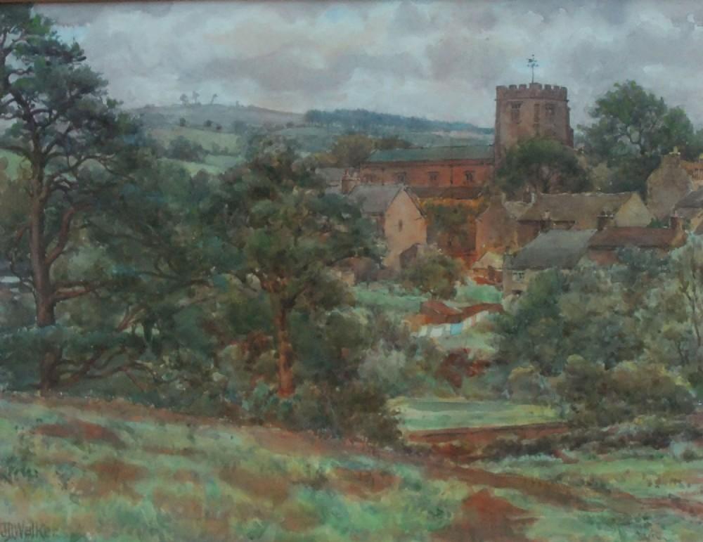 john d walker brookhouse caton lancashire watercolour