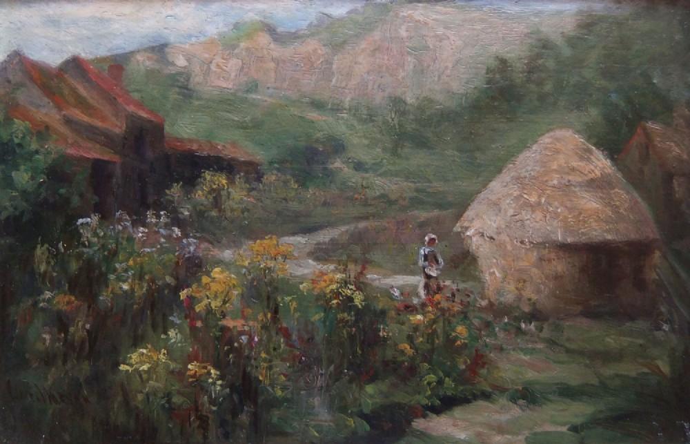 james watson feeding time oil painting