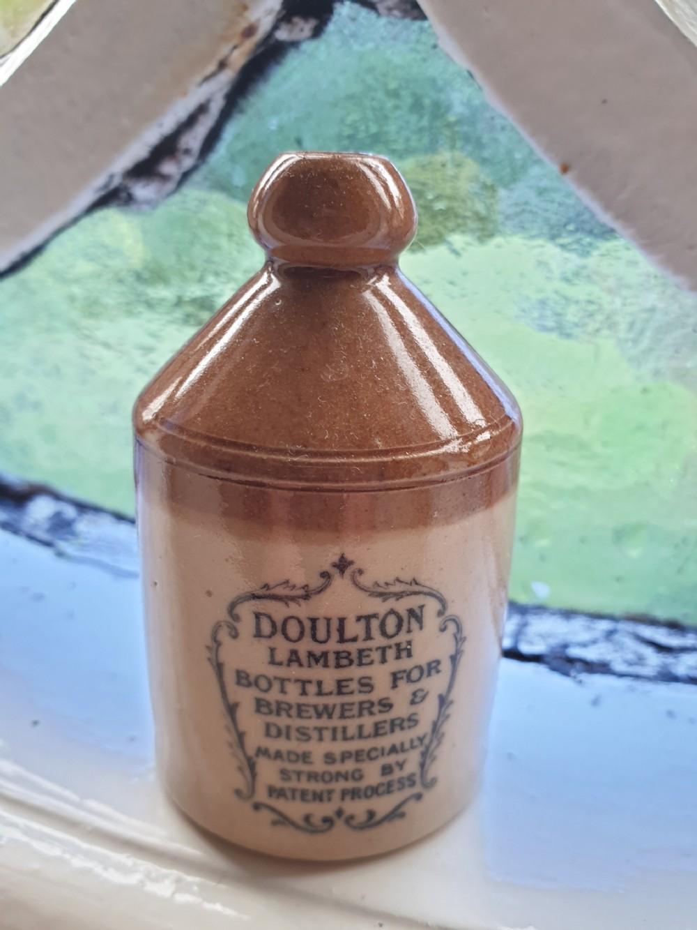rare antique minature doulton lambeth advertising ale jug