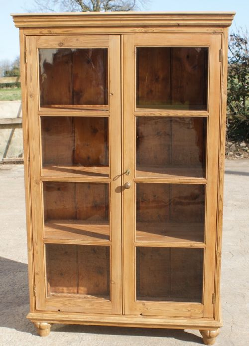 page load time 0.20 seconds - Mid 19th Century Antique English Pine Display Cabinet / Bookcase