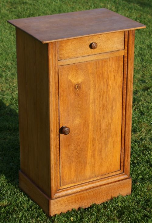 a fine late 19th century french oak bedside cabinet