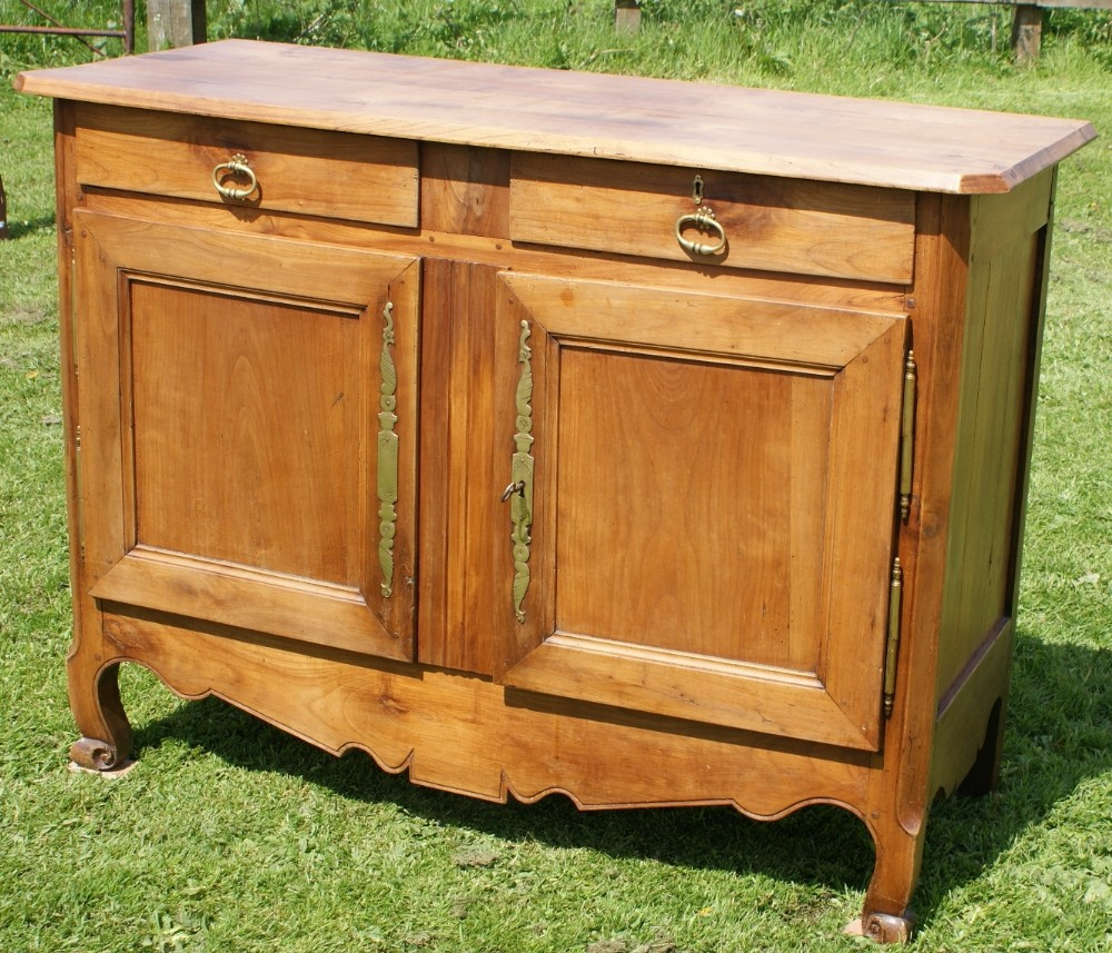 An imposing mid th century antique french cherry wood