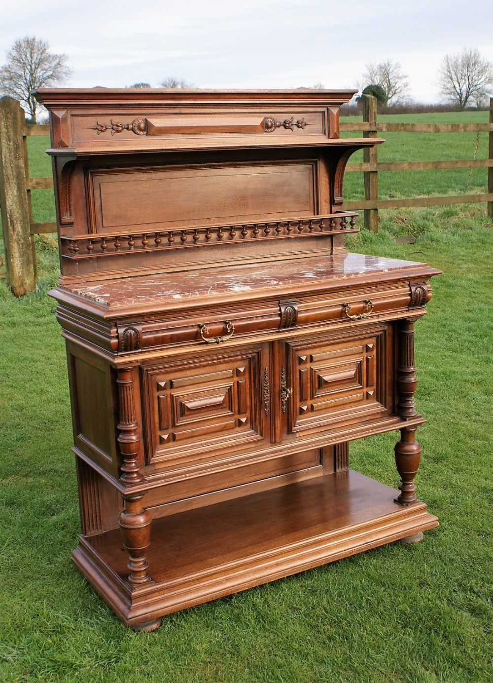 Solid Walnut Buffet ~ An superb late th century solid walnut french buffet