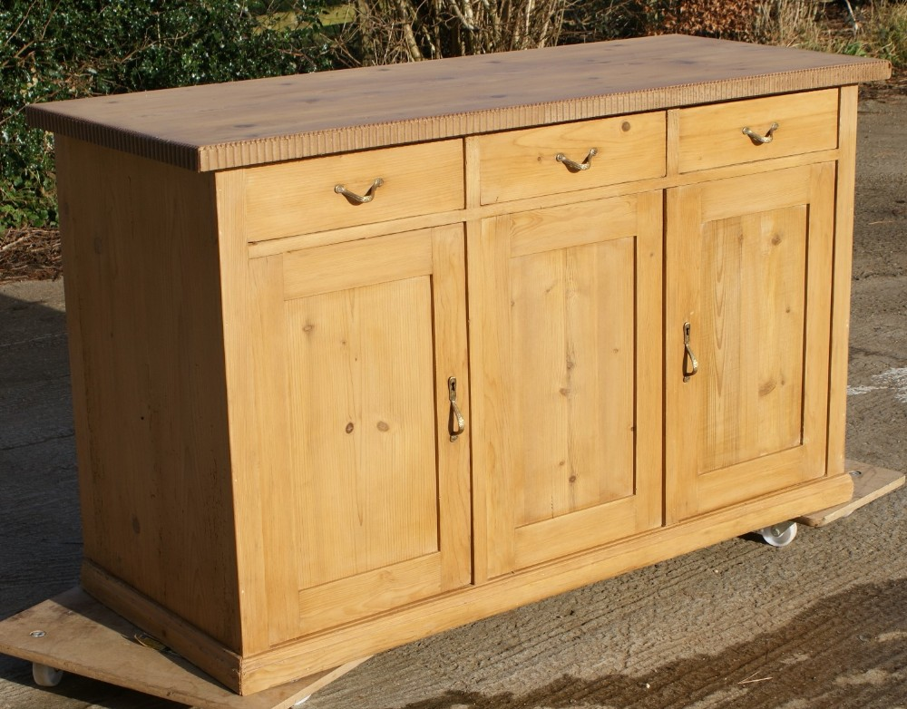an imposing early 20th century antique german pine sideboard dresser base