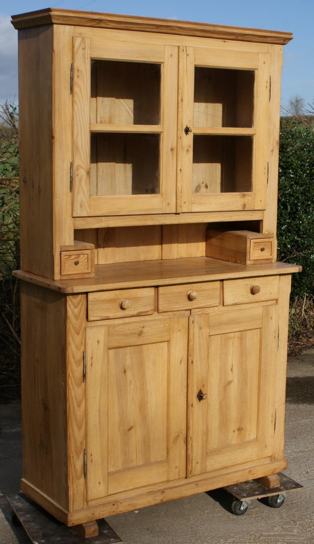 an early 20th century german stripped pine dresser