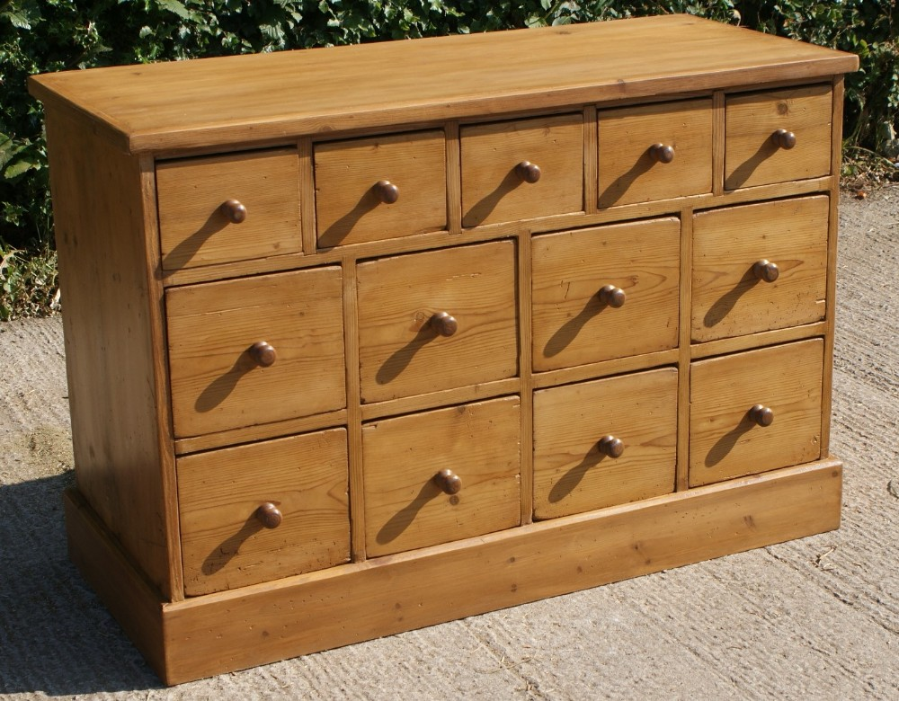 fantastic late 19th century german antique solid pine chest bank of drawers