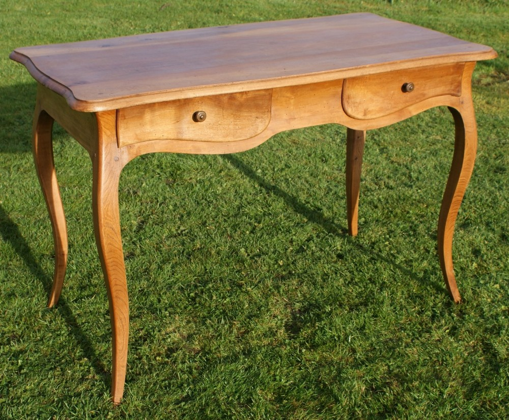 a very pretty french louis xv style walnut chestnut side table desk