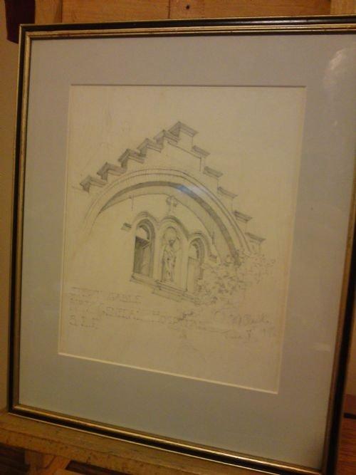 pair of pencil drawings