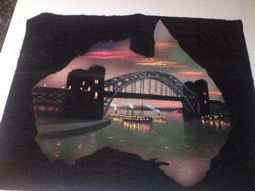 painting of sydney harbour bridge