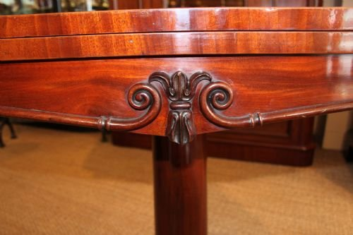 early victorian mahogany card table - photo angle #4