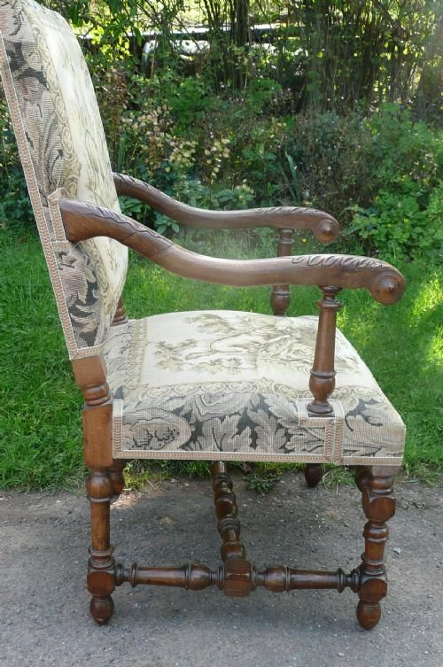 armchairs walnut c 1880 - photo angle #3