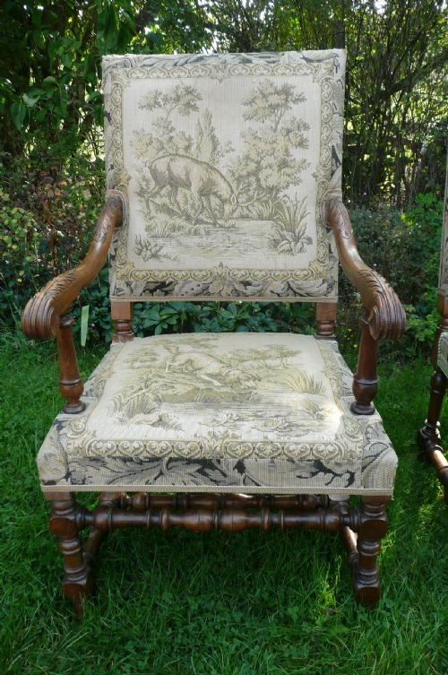 armchairs walnut c 1880 - photo angle #4