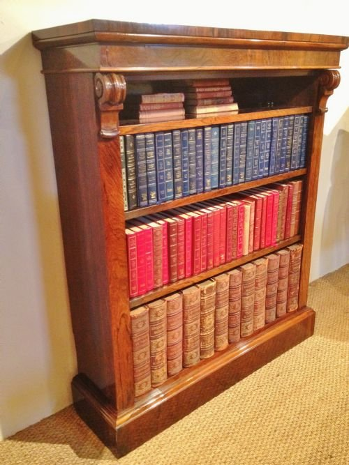 bookcase rosewood open c 1860 - photo angle #3
