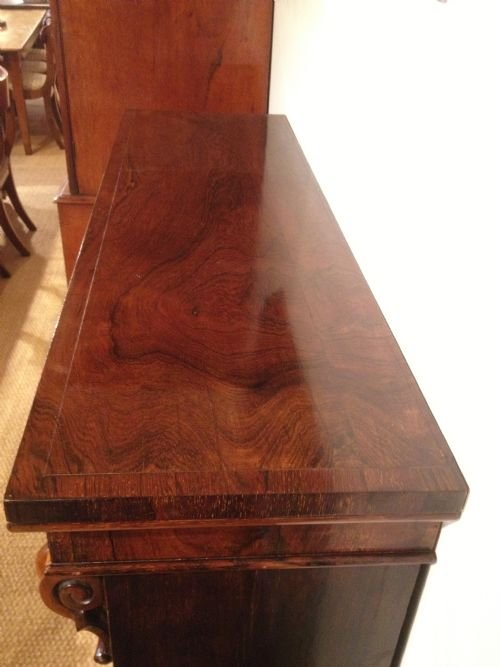 bookcase rosewood open c 1860 - photo angle #5
