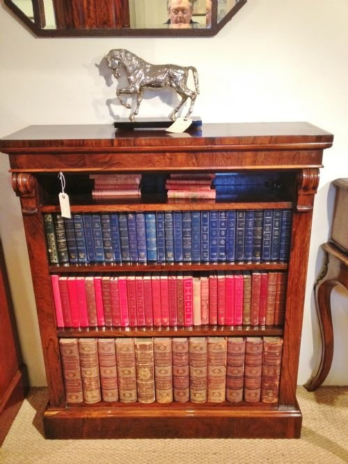 bookcase rosewood open c 1860