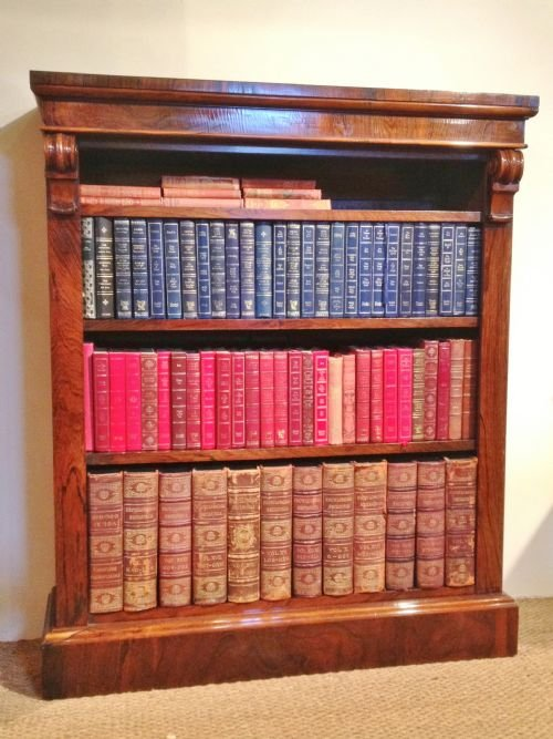 bookcase rosewood open c 1860 - photo angle #2
