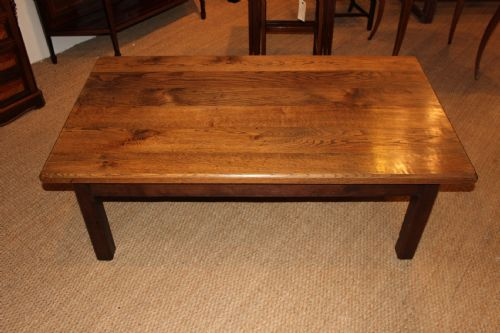 Chunky large oak coffee table 200554 for Large chunky coffee table