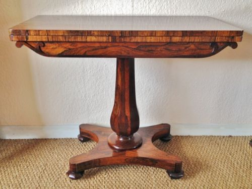 card table in rosewood