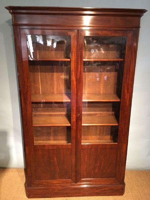 mahogany 2 door bookcase