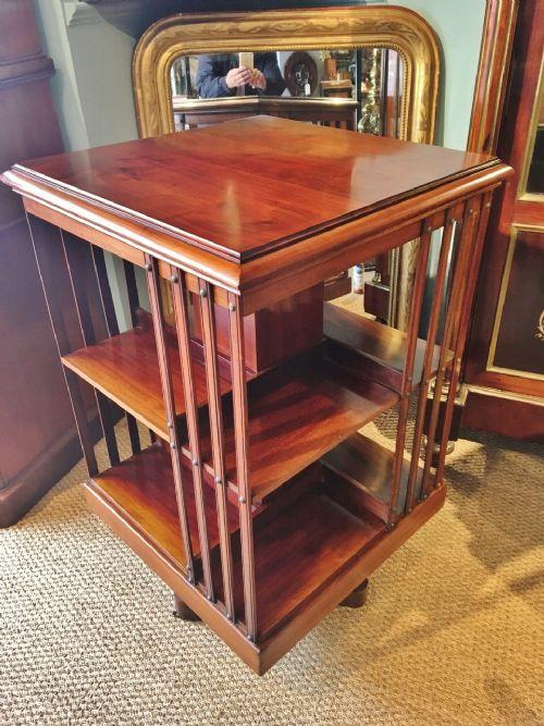 mahogany revolving bookcase c 1910