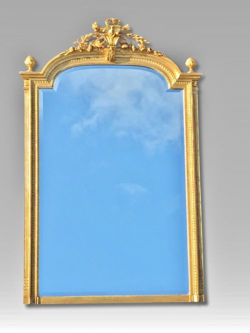 gilt overmantle mirror c1890