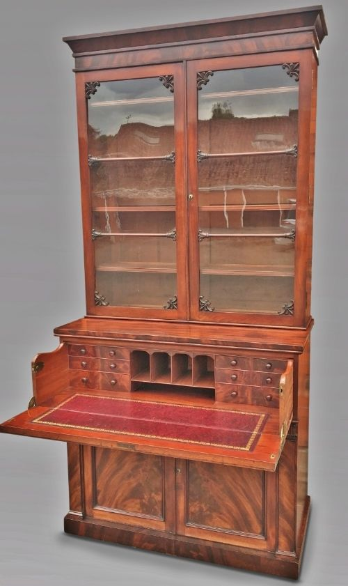 mahogany bookcase english c 1830