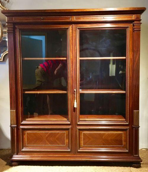 19th century mahogany 2 door bookcase