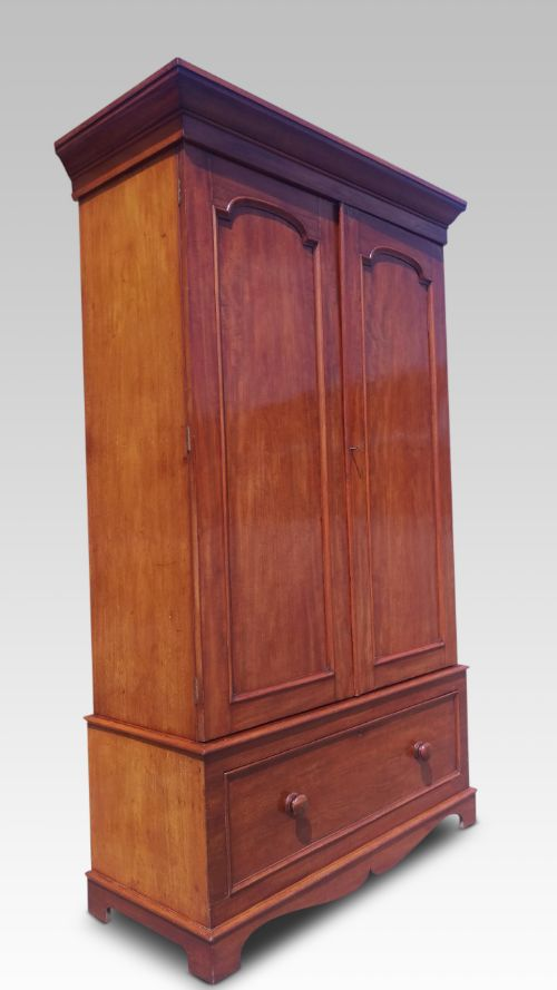 mahogany wardrobe english c 1880