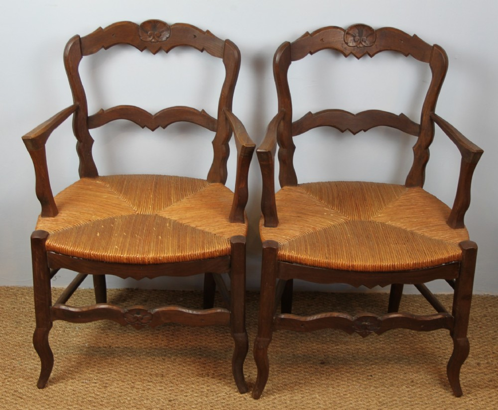 pair of country carver chairs