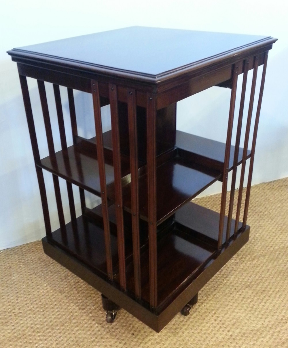 mahogany revolving bookcase