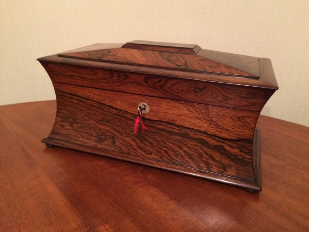 victorian rosewood tea caddy