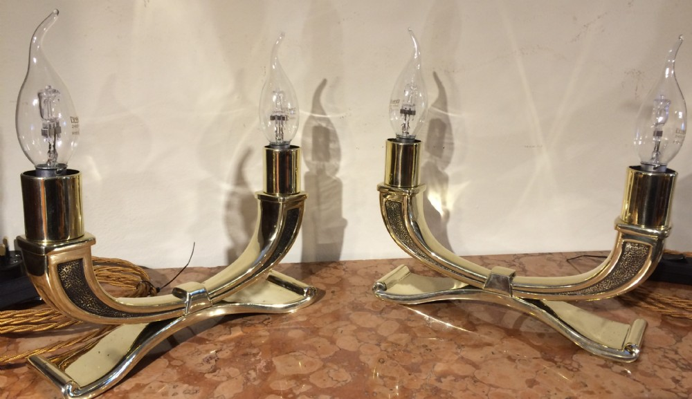 pair art deco table lamps