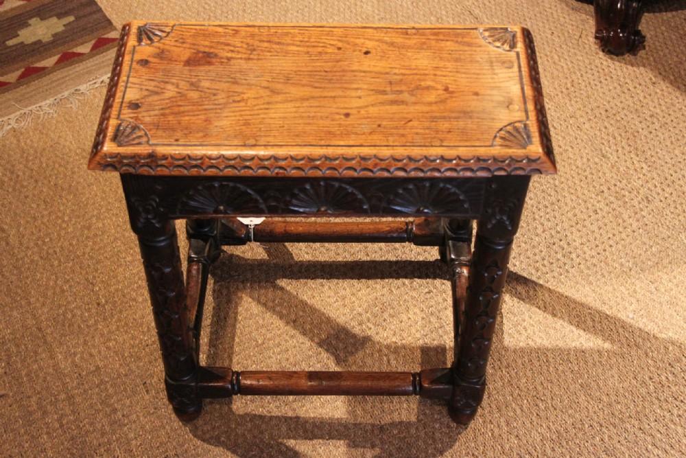 victorian oak joint stool