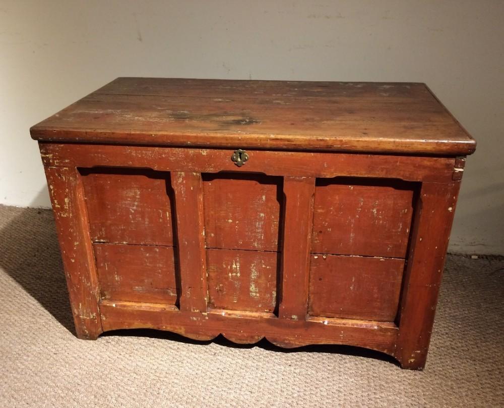 pine panelled coffer trunk box