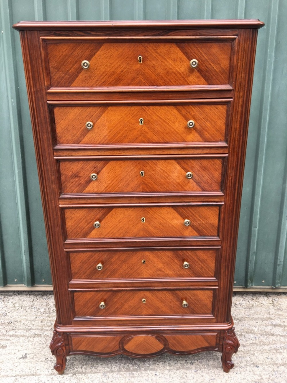 chest of drawers in rosewood c 1890