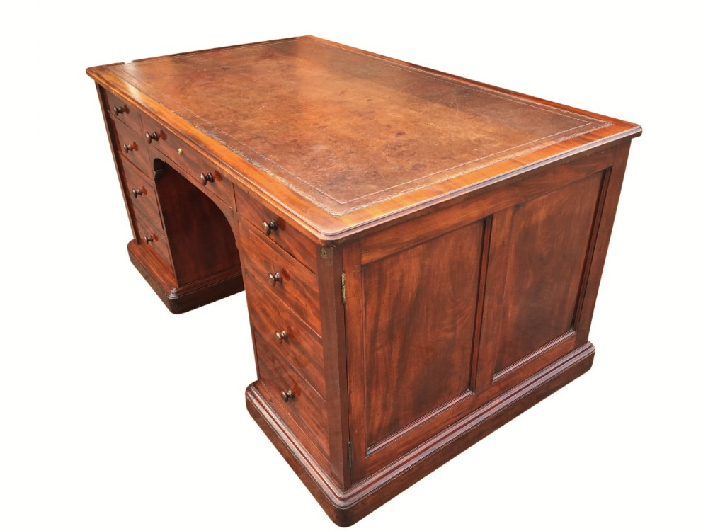 fabulous early 19th century partners desk by gillow c1830s