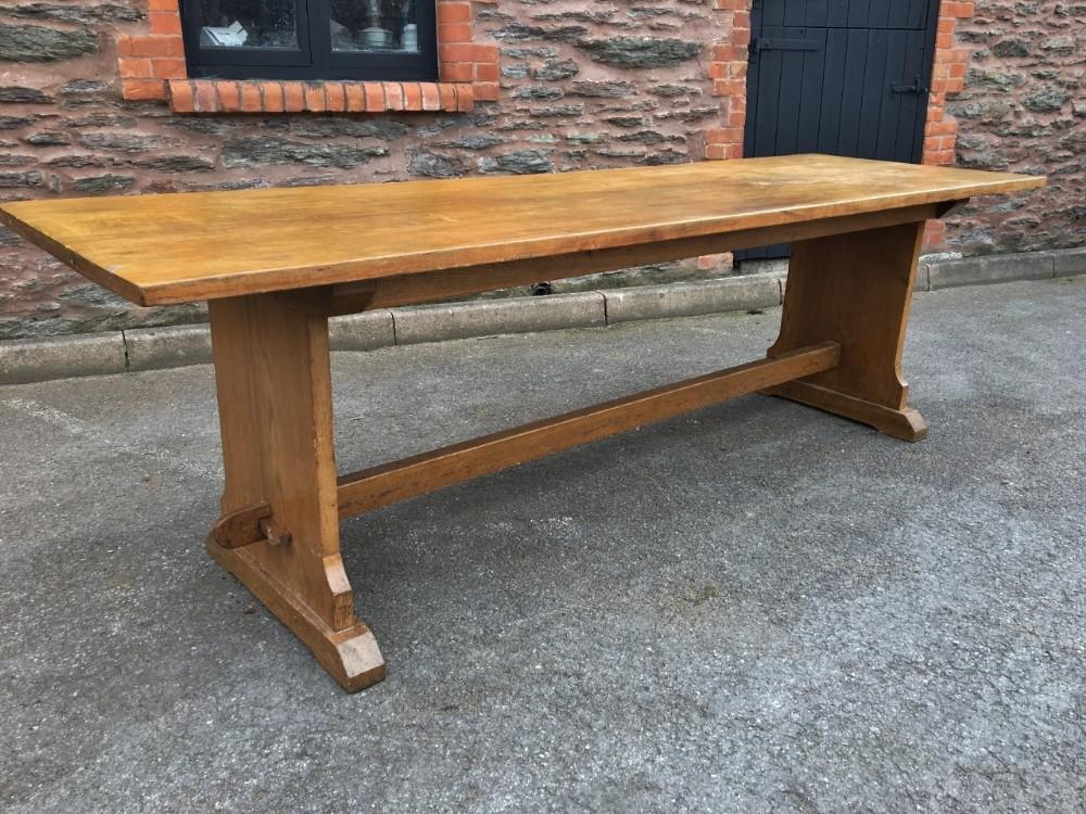 Oak Refectory Table Farm Table 8 Feet Long Seats 10