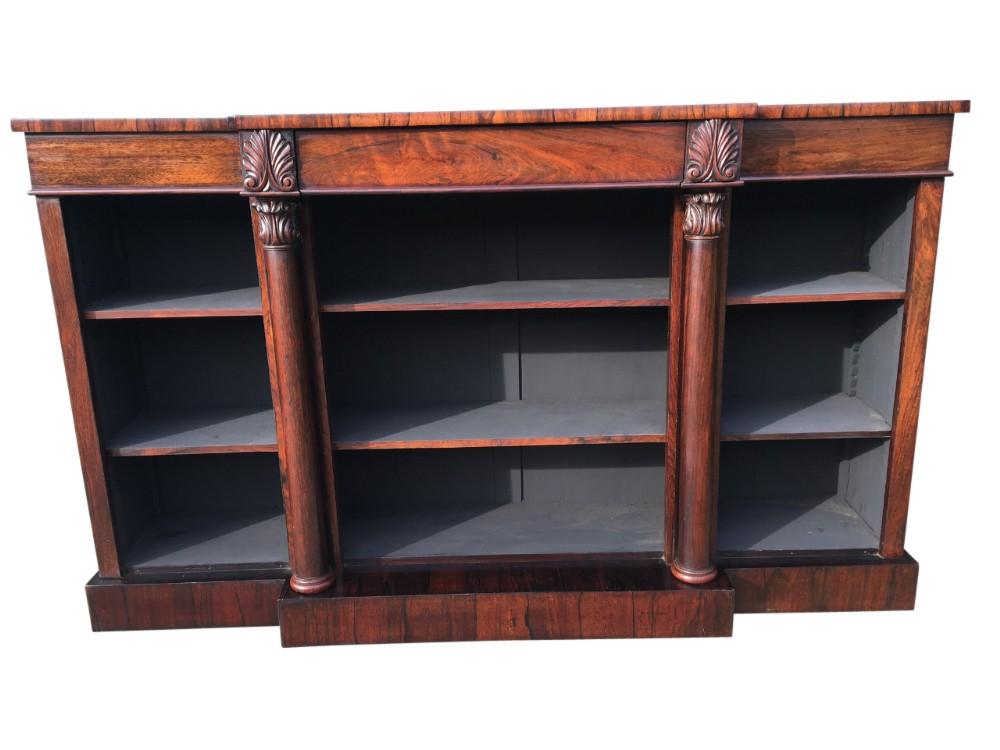 rosewood bookcase english c 1840