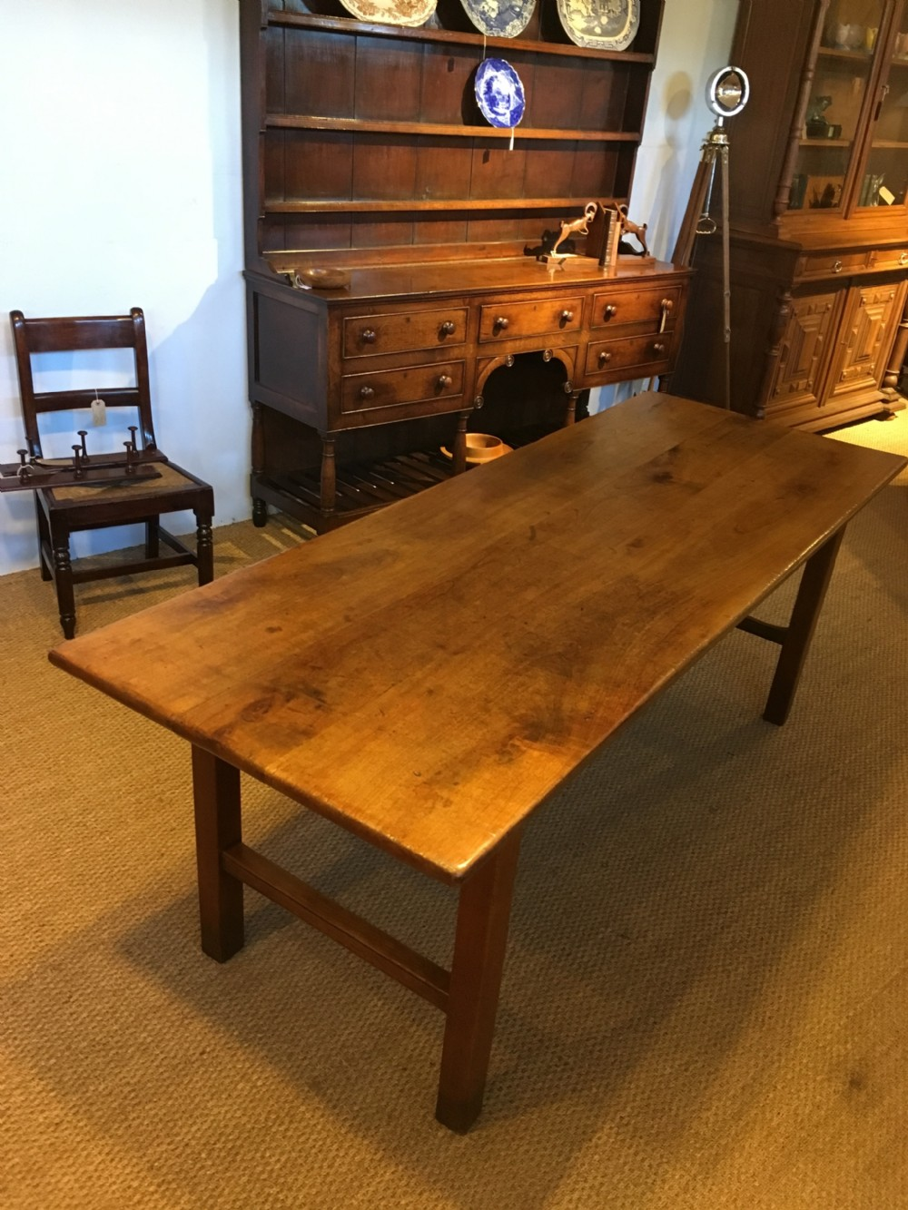 19th century cherrywood farmhouse table