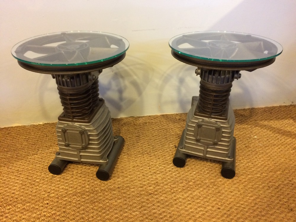 industrial lamp tables