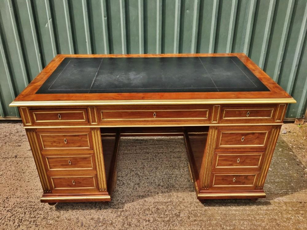 mahogany pedestal desk c1880