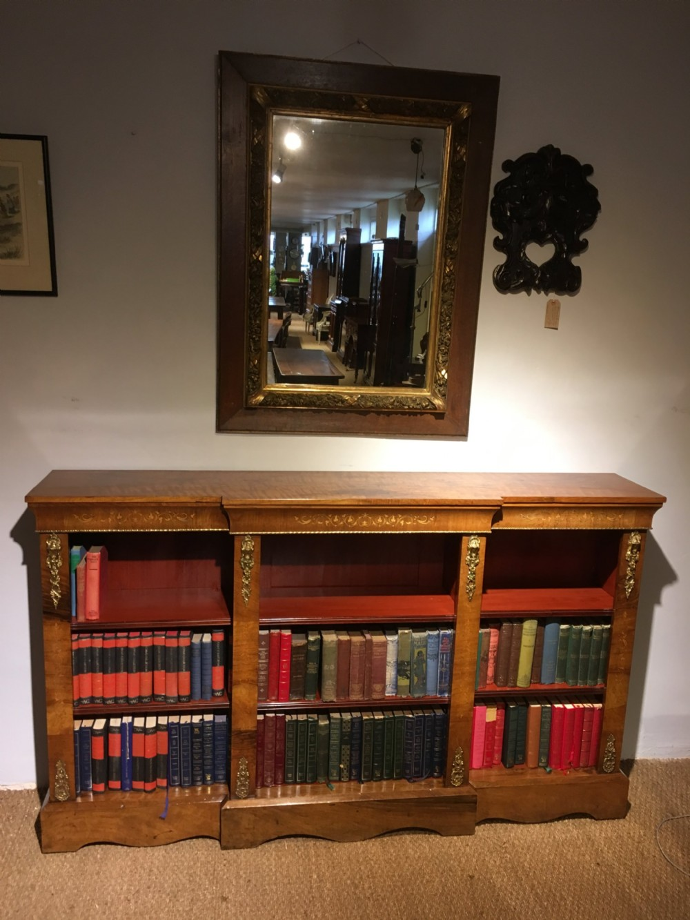 victorian breakfront bookcase