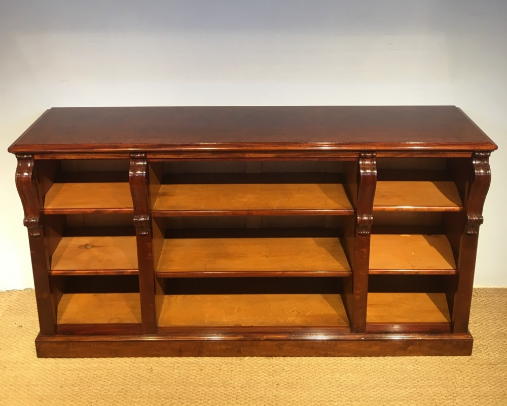 long low mahogany bookcase