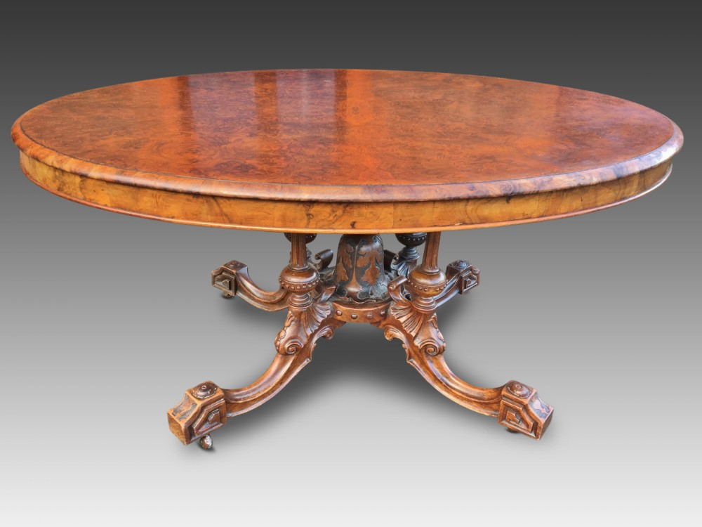 dining table burr walnut c 1860