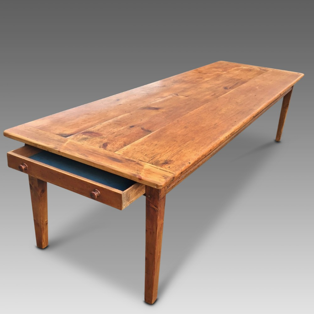 farmhouse table long and wide c 1830